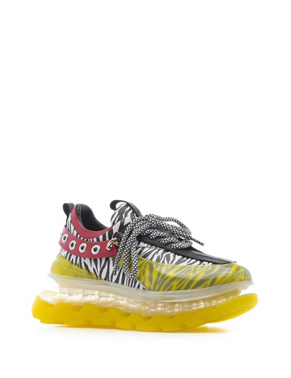 Hold Womens Sneaker Yellow-Black Leather