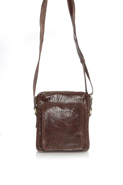 Horn Men's Shoulder's Bag Brown Floater