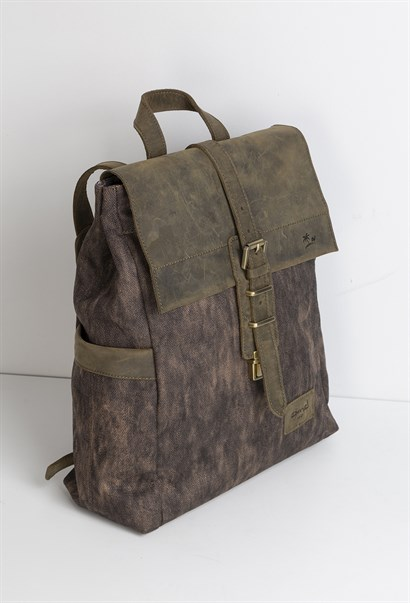 Jacoby Mens Backpack Khaki Nubuck