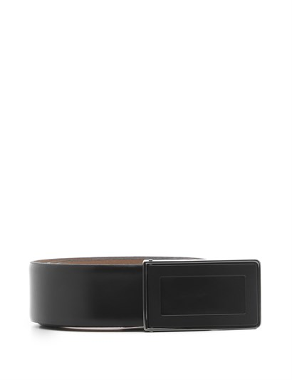 Jason Mens Belt Black Florentic Leather