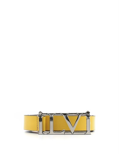 Jenna Womens Belt Yellow Leather