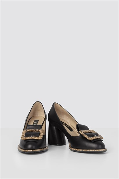Karen Womens Pump Black Leather