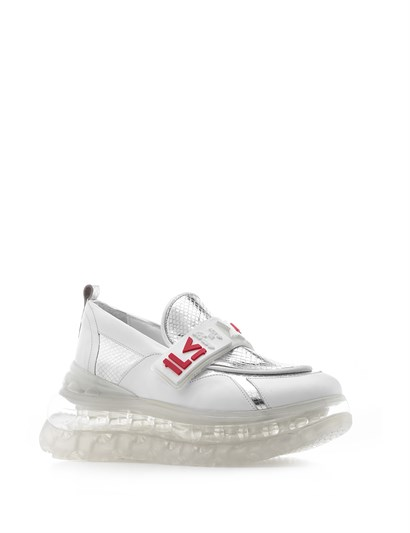 Karla Women's Sneaker White-Silver Leather