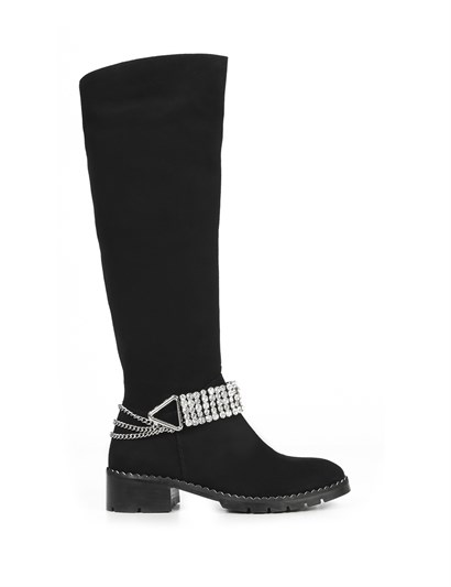 Kifa Womens High Boot Black Suede