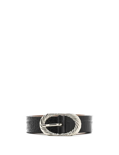 Klara Womens Belt Black Crocodile