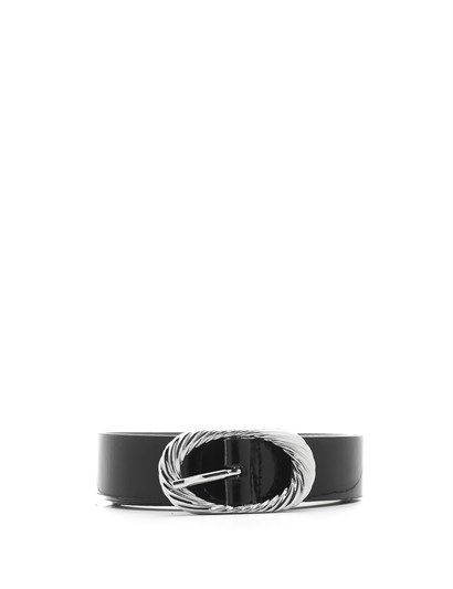 Klara Womens Belt Black Patent Leather