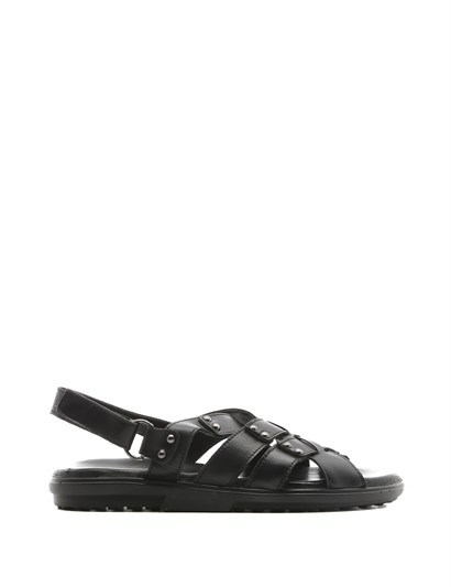 Klasa Mens Sandal Black Leather
