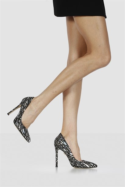 Lady Womens Stiletto Black Silver