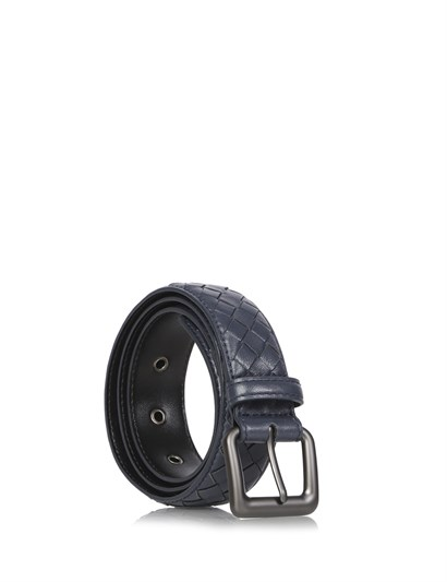 Lamb Mens Belt Navy Blue