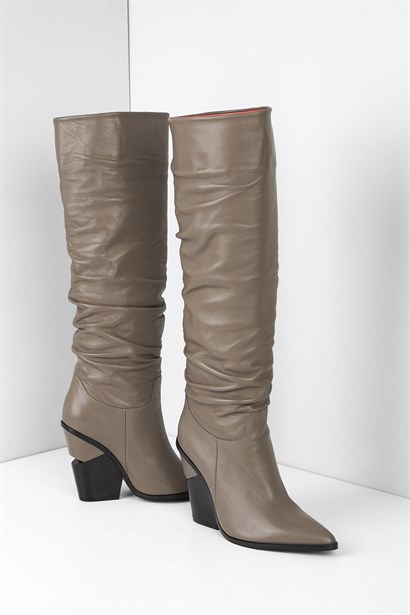 Larry Womens High Boot Mink Leather