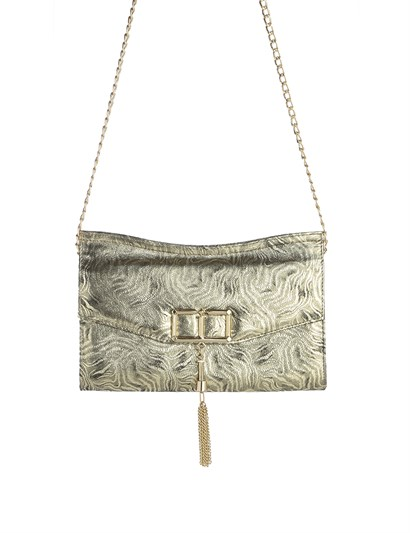 Lauren Womens Shoulder Bag Golden Leather