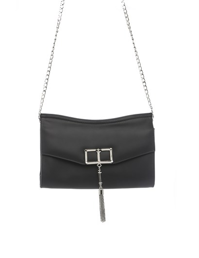 Lauren Womens Shoulder Bag Black Leather
