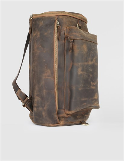 Lavem Saddle Brown Nubuck Mens Backpack