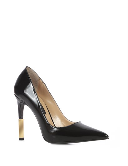 Lina Womens Stiletto Black Patent Leather