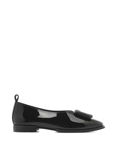 Lola Womens Ballerina Black Patent Leather