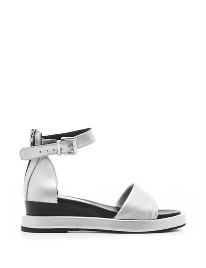 Lora Womens Sandal Silver Leather