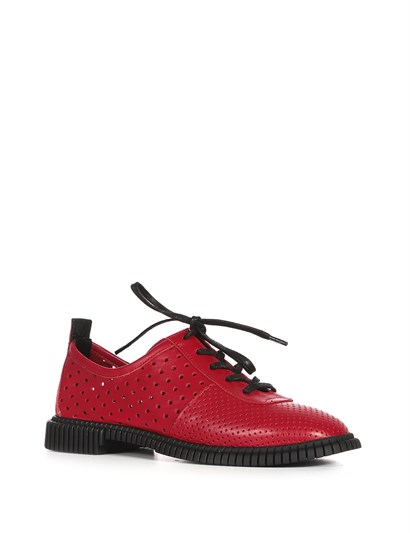 Luiza Women's Oxford Red Leather