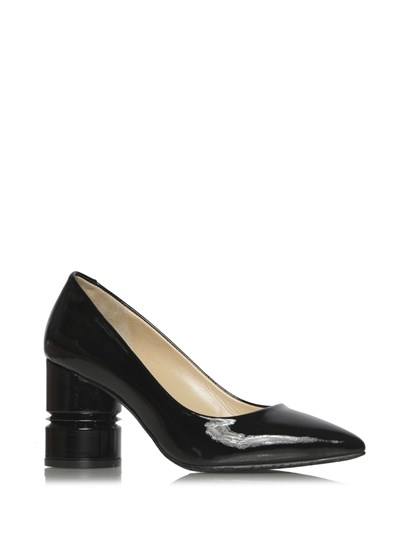 Mano Womens Pump Black Patent Leather