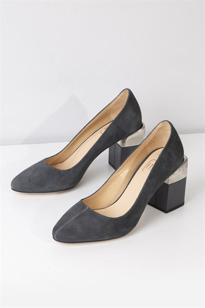 Mara Womens Pump Grey Suede
