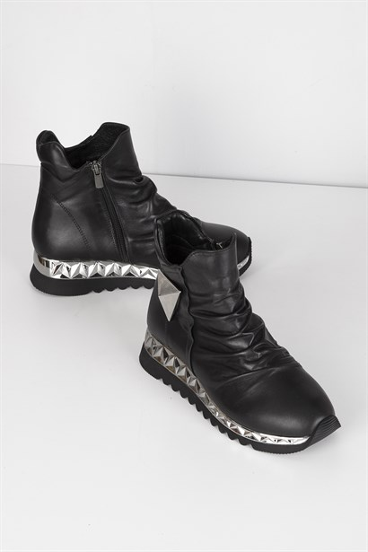 Marcel Womens Sneaker Black Leather