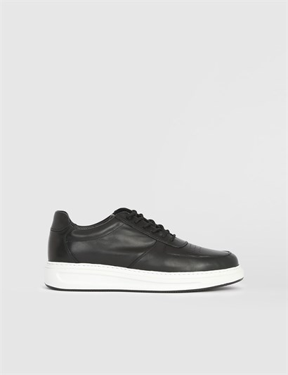 Mariona Black Leather Mens Sneaker