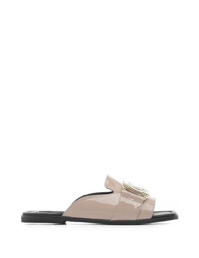 Maus Womens Slipper Mink Patent Leather