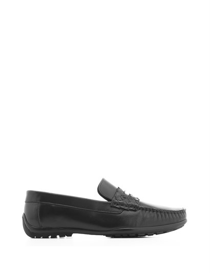Maxwell Mens Moccasin Black Antique