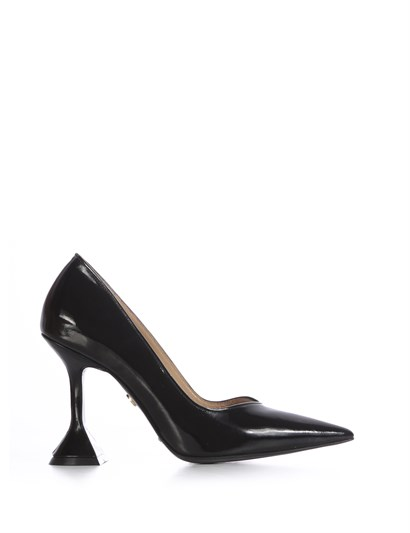 Merry Womens Stiletto Black Patent Leather