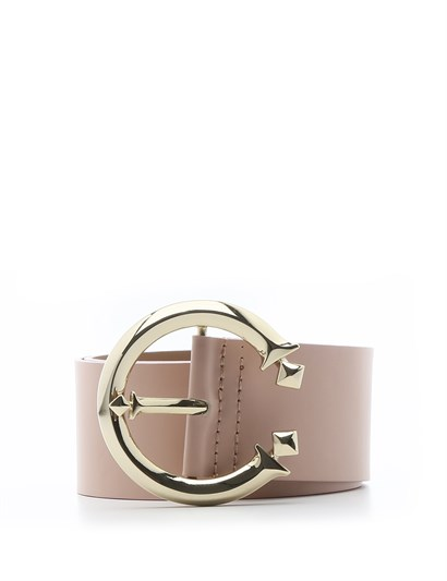 Metilda Womens Belt Powder Pink Leather