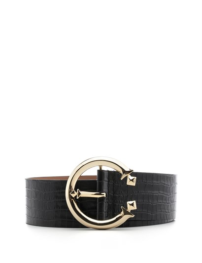 Metilda Womens Belt Black Crocodile