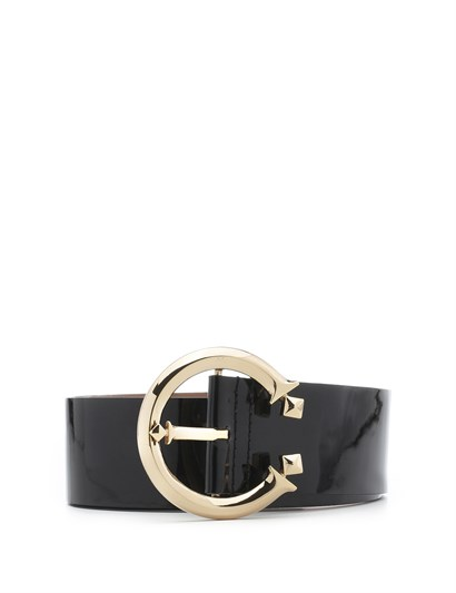 Metilda Womens Belt Black Patent Leather