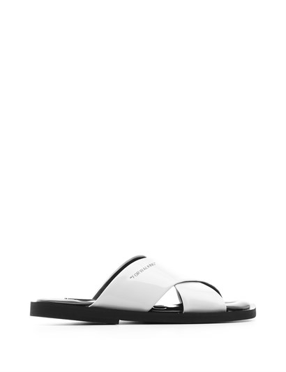 Mira Womens Slipper White Patent Leather