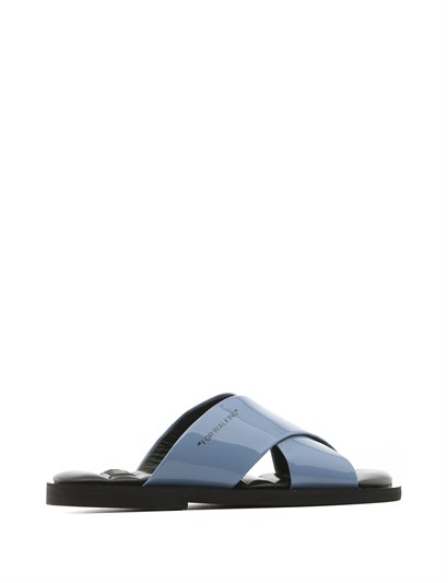Mira Womens Slipper Blue Patent Leather
