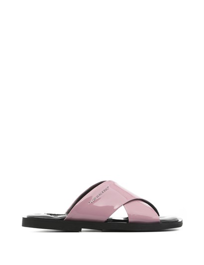 Mira Womens Slipper Pink Patent Leather