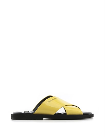Mira Womens Slipper Yellow Patent Leather