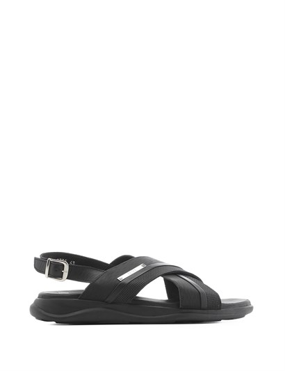 Morton Mens Sandal Black Matte