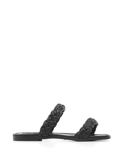 Nanol Womens Slipper Black Leather