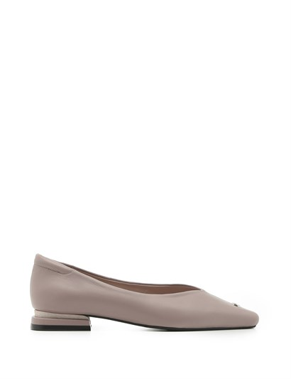 Nelly Womens Ballerina Pink Leather