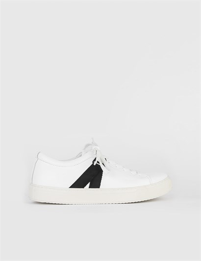 Nevada White Leather Mens Sneaker