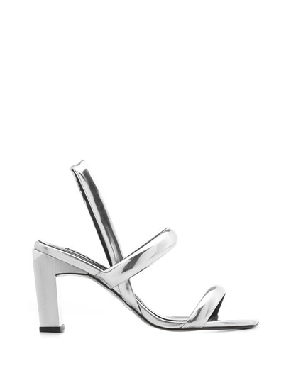 Niegro Womens Sandal Silver Patent Leather