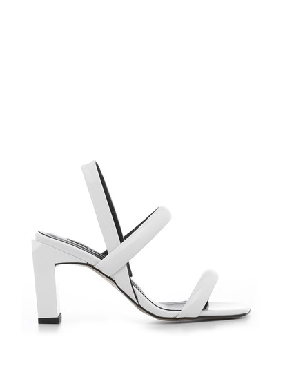 Niegro Womens Sandal White Patent Leather