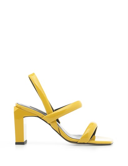 Niegro Womens Sandal Yellow Patent Leather