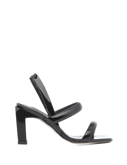 Niegro Womens Sandal Black Patent Leather