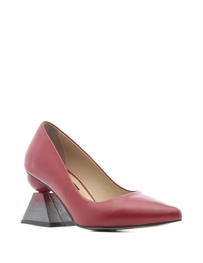Nikol Women's Pump Red Leather