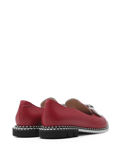 Nora Women's Moccasin Red Leather