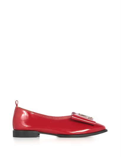 Olive Womens Ballerina Red Patent Leather