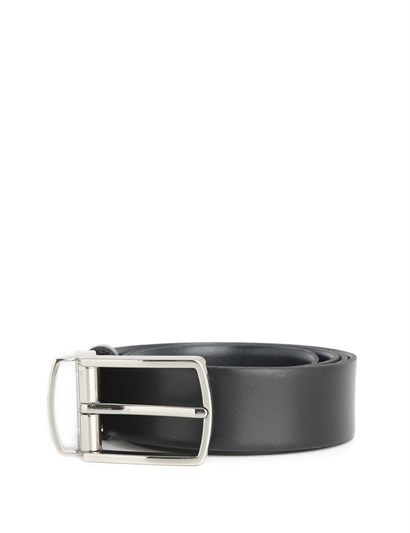 Pean Mens Belt Navy Blue Black