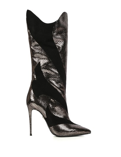 Polo Womens High Boot Bronze Snake