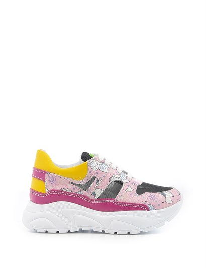 Puh Unisex Kids Sneaker Pink Leather