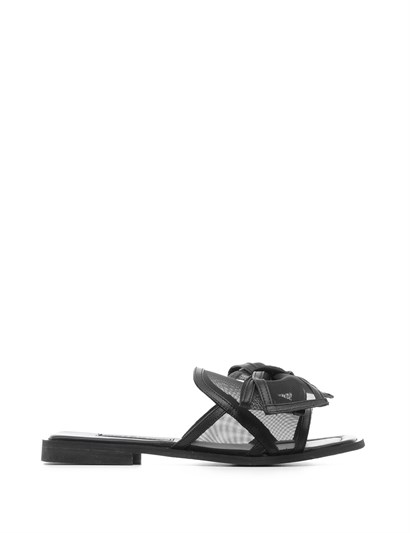 Rest Womens Slipper Black Leather